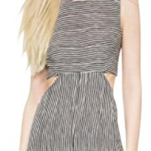 A.L.C. Dresses & Skirts - A.L.C. Black and White Long Silk Cocktail Dress